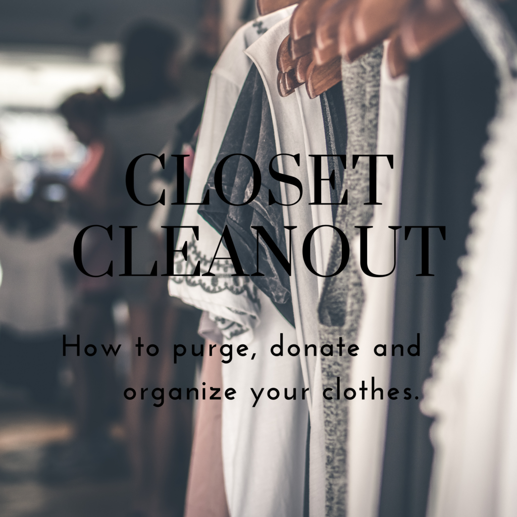 Closet Clean Out, How to clean out a closet, how to organize a closet, There's Sugar in My Tea, Charlotte NC Blog