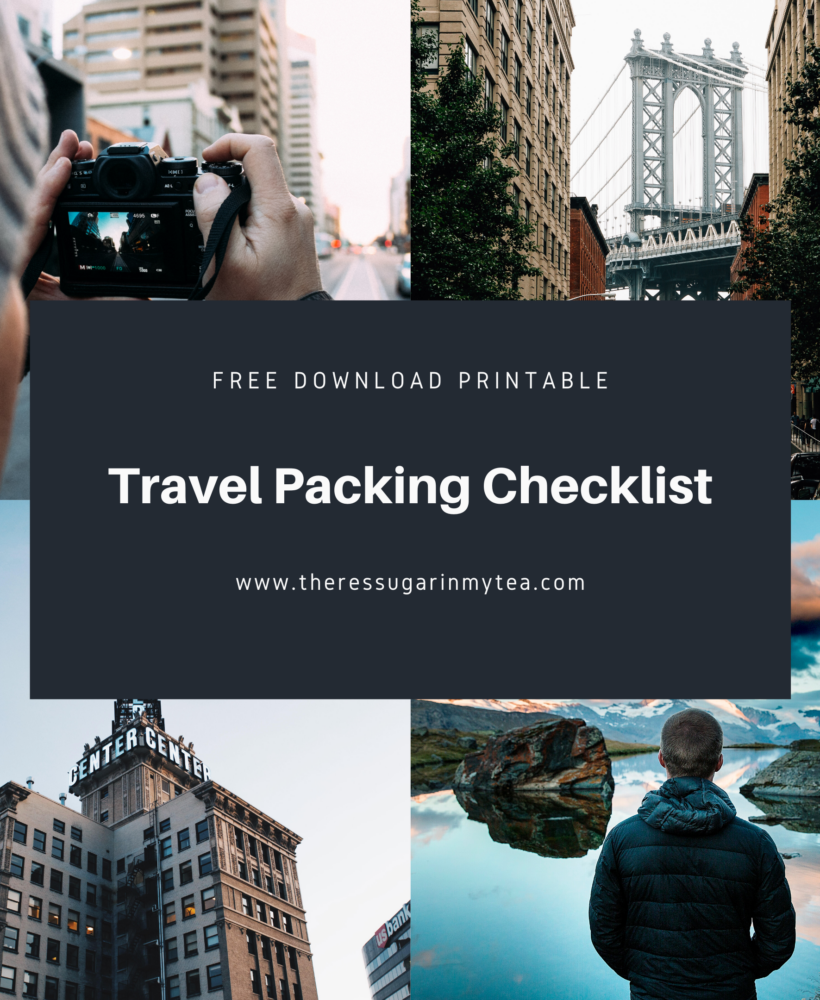Travel packing checklist, vacation packing list