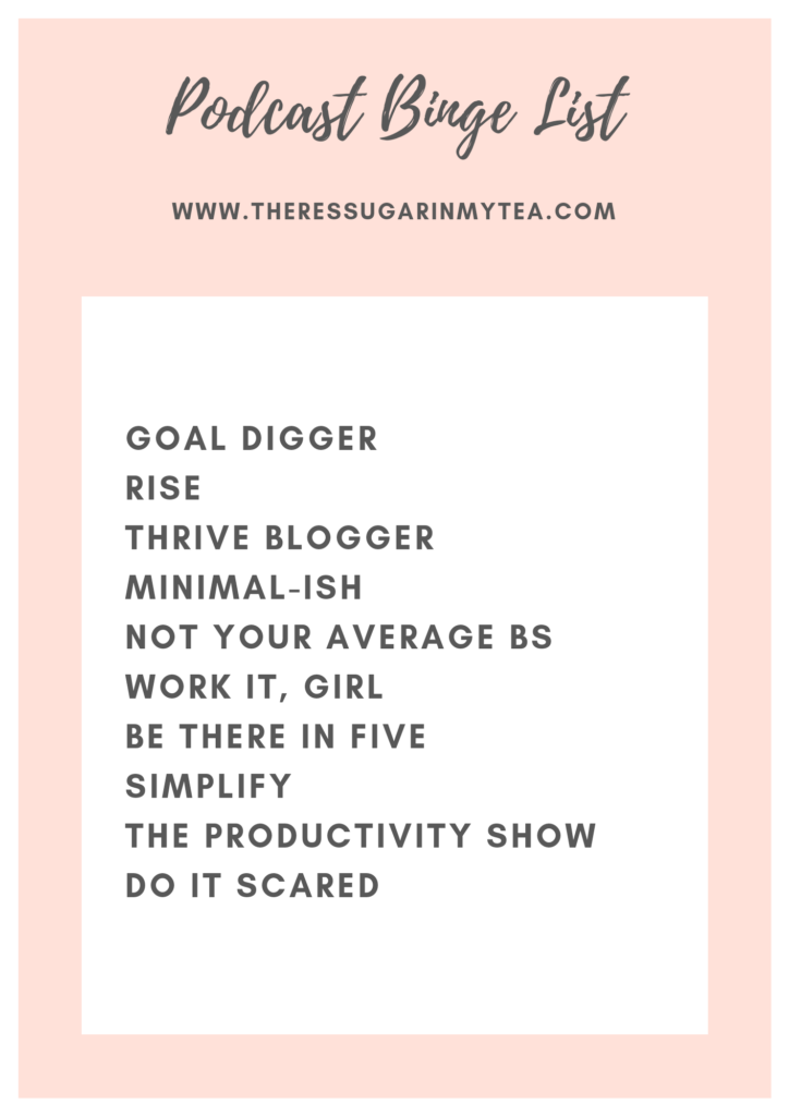 How to Avoid Being Bored at Home, There's Sugar In My Tea, Charlotte NC Bloggers to Follow, Southern Lifestyle Bloggers to Follow, Podcast Binge List