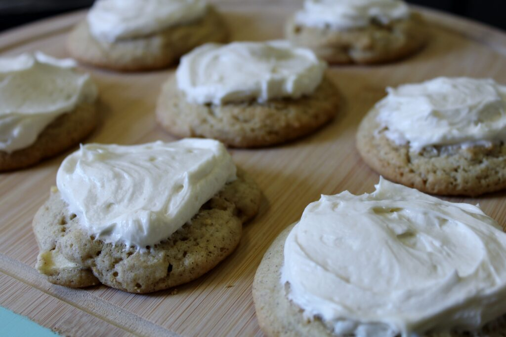 apple cookies with cream cheese frosting, there's sugar in my tea, charlotte nc blog, southern lifestyle bloggers