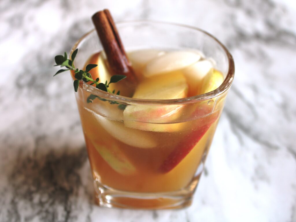 the best bourbon & cider cocktail for fall, there's sugar in my tea, charlotte nc lifestyle bloggers